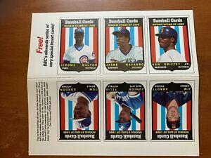 1989 baseball card magazine cards uncut sheet Ken Griffey Jr rookie
