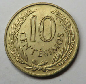 Uruguay 10 Centesimos 1960(l) Nickel-Brass KM#39 UNC