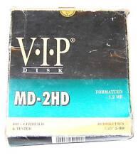 "8 X V.I.P. 5.25"" 5,25"" floppy disk boxed"