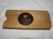 Bewegliches Bild um 1900 für Laterna Magica im Holzrahmen       #AJ16