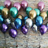 "10pc 10"" Shiny Chrome Balloons Bouquet Birthday Party Decor Metallic Wedding New"