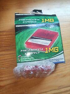 Memory Card 1 MB Thrustmaster nicht benutzt für Playstation 1 Spiele