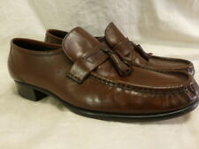 Florsheim Como Tassel Moc Brown Leather Loafers Work Dress Mens Shoes 10.5D $129