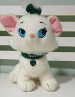 MAY ARISTOCATS PLUSH TOY WHITE DISNEY CAT GREEN NECKLACE CHARACTER TOY 22CM