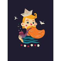 Nautical Boy Sailor Large Canvas Wall Art Print