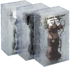 KAWS HOLIDAY UK Vinyl Figure Set of 3 Black Brown Grey NEW SEALED DDT Store