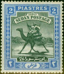 Sudan 1898 2p Black & Blue SG15 Fine Mint Hinged