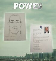 POWER TOMMY EGAN POLICE SKETCH AND REPORT USED GHOST TOMMY STARZ COA