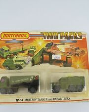 "Matchbox ""Two Packs"" TP-14 Military Tanker and Radar Truck Sealed Blister Pack"