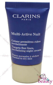 Clarins Multi Active Nuit Night Cream Normal To Dry Skin .5oz / 15ml New & Unbox
