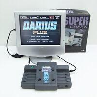 PC Engine Turbografx Super Grafx Nec Game Console Gray PI-TG4 RGB Output