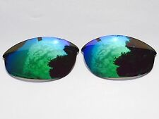 ENGRAVED POLARISED GREEN MIRRORED REPLACEMENT OAKLEY HALF JACKET LENSES