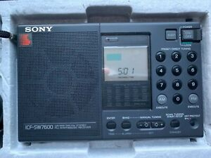 SONY ICF-SW7600 AM/FM STEREO SHORTWAVE RADIO with MANUALS & ACCESSORIES IN BOX