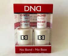 DND DUO UV GEL NAIL POLISH - BASE AND TOP COAT SET- USA MADE- UNIVERSAL GEL