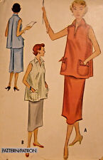 Mc-9382 1950's Maternity Two-Piece Dress Sewing Pattern McCall Bust 30 Complete
