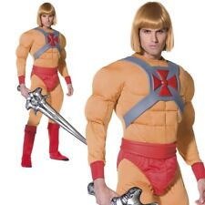 He-Man Masters of the Universe Costume 80s He Man Mens Fancy Dress New