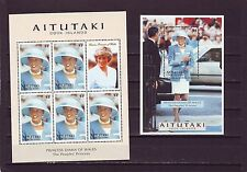 AITUTAKI - SG699-MS700 MNH 1997 COMMEMORATION PRINCESS DIANA