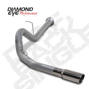 "Diamond Eye Exhaust Kit 4"" Back Single for 07.5 - 10 Chevy / GMC 6.6L Duramax"