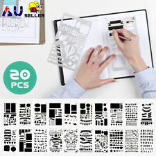 20x Bullet Journal Stencil Plastic Planner DIY Drawing Template Diary Craft/lot