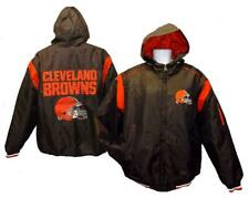 New Cleveland Browns Mens Sizes L-XL Brown Hooded Jacket Coat