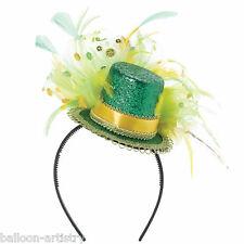 MINI St. Patrick's Day Irlanda Irish partito Piuma Cappello Fascinator con cerchietto