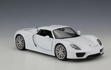Welly 1:24 Porsche 918 Spyder Diecast Model Car Roadster White New