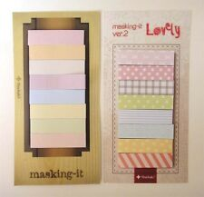 Cute Kawaii Korean masking memo pad sticky sticker diary note deco tape paper x2