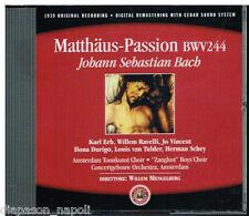 Bach J. S.: Matthaus Passion (Passione San Matteo) / Mengelberg, Erb, Ravelli CD