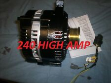 Ford Mustang 240 HIGH Amp 3G LARGE CASE BLACK Alternator 1988 1993 HIGH OUTPUT