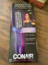 Conair Straightening Brush  375* High Heat Straightener Brush