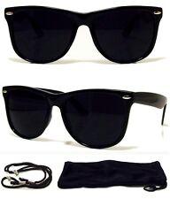 MEN WOMEN Sunglasses Aviator Style Black Frame with Dark Lens - NEW! FREE CASE