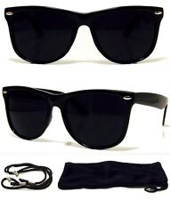 MEN Sunglasses Aviator Style Black Frame with Dark Lens - NEW! FREE CASE