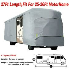 Deluxe Vented RV Motorhome Camper Travel Trailer Covers UV Resistance 25', 26'