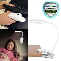 USB Clip-on Table Desk Bed Piano Reading Light Desk Lamp Warm White LED Flexible