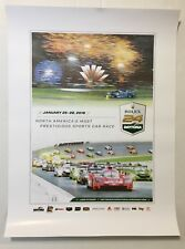 2018 Rolex 24 Hr Sports Car Race Poster Daytona Int'l Speedway IMSA Prototype