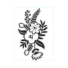 "Darice Embossing Folder 4 1/4""x5 3/4"" - SMALL FLORAL SPRIG - 1219-411"