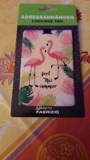 Adressanhänger Kofferanhänger mit Motiv Flamingos Neu