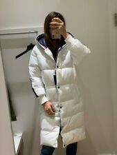MEDIUM WOMENS Tommy Hilfiger long coat white navy jacket...