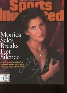 Monica Seles No Label Signed Autographed Sports Illustrated Magazine BAS COA