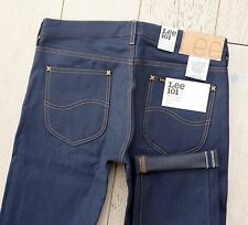 NEW LEE 101S RIDER JEANS 10.25oz DRY INDIGO DENIM 3x1 TWILL SELVAGE size 32/32