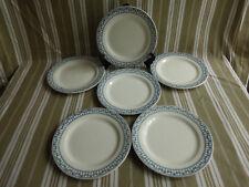 """6 assiettes plates salins bm,terre de fer,service """"sermaize""""(3)"""