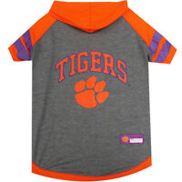 Clemson Tigers Pets First Officially Licensed Dog Pet Hoodie Tee Shirt XS-L