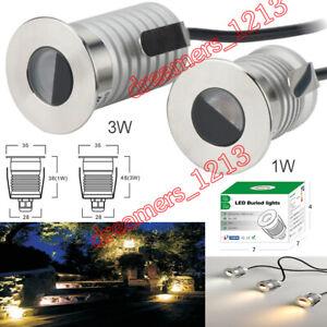 1 / 3W IP67 Waterproof LED Buried Lights Underground Recessed Light Outdoor Lamp