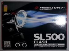 New Reelight SL500 flash bike bicycle front light & dynamo no batteries