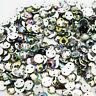 1000 Sew On AB Iridescent Rhinestones Gems Acrylic Silver Flatback Trimmings