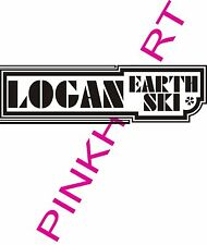 3 Logan earth ski skateboard sticker  3 decals decal skate board logan ski deck