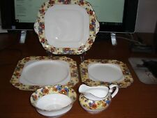 6 ASST. PIECES OF ANYSLEY CHINA AYN22 INCLUDING HANDLED SANDWICH TRAY