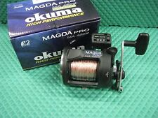 Okuma Magda Pro MA 45DX Line Counter Trolling Reel Spooled w/ 300 ft 30# Copper