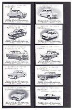 AUTOMOBILIA BELGIAN FORD MOTOR MATCHBOX LABELS 1957 SET OF 10