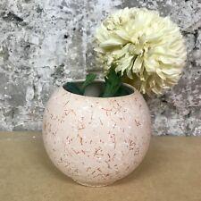 Pastel Pink White Red Marble Splatter Vase Planter - Instagram Shelfie Homeware